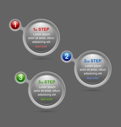 Progress steps design elements vector image