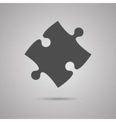 Puzzle one grey piece sign icon strategy symbol vector
