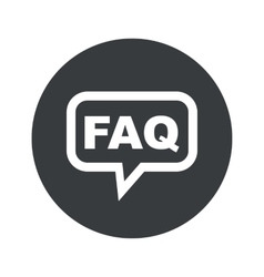 Round FAQ dialog icon vector image