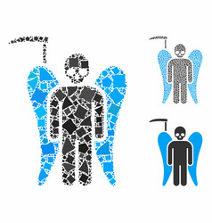 Scydeath angel composition icon tuberous vector