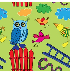 seamless birds print vector image