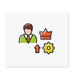 Self esteem building color icon vector