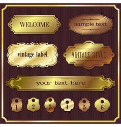 set 5 of design elements sample labels shapes vector image