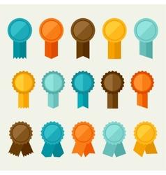 Set colored badges labels awards in flat design vector
