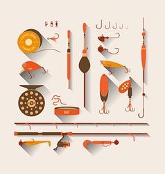 Set Fishing tackle vector