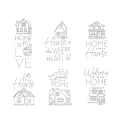 set house sign flat vector image