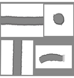set of holes vector image