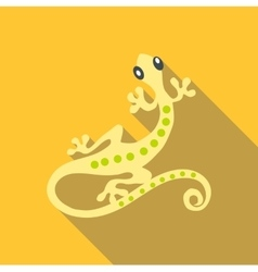 Small gecko icon flat style vector