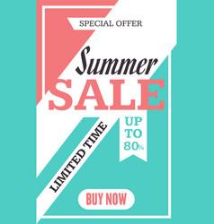 Social media summer sale banner vector