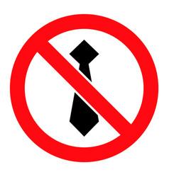 Stop man tie - icon vector