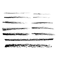 The charcoal brushes vector image