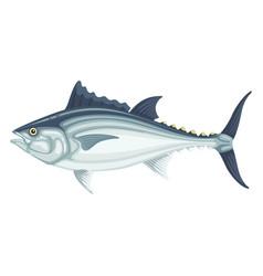 tuna fresh large fish seafood cuisine icon vector image