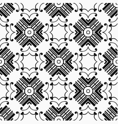 vintage art deco pattern vector image