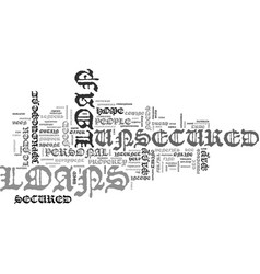 What is an unsecured loan text word cloud concept vector