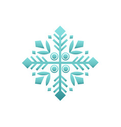 wintertime figure in white and blue vector image