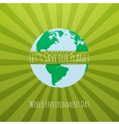 World Environment Day awareness Concept Template vector image