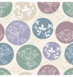 Botanical pattern with foliage vector image vector image