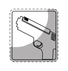 figure pistol police icon image vector image