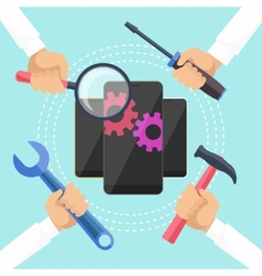 Mobile service concept vector image vector image