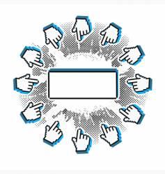 pointers grunge pixel frame vector image