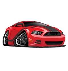 Red Muscle Car Cartoon vector image vector image