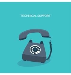 Retro telephone technical vector