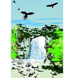 Wild Jungle Waterfall vector image