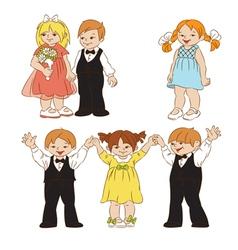 elegant children vector image vector image