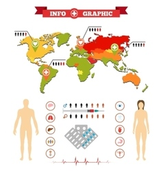 Medical anatomy women infographics and additional vector image vector image