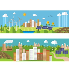 Set of environment and ecology banners vector image