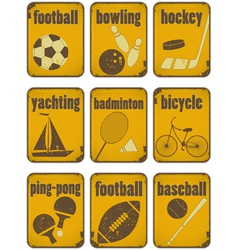 set of Sport separate Signs vector image vector image