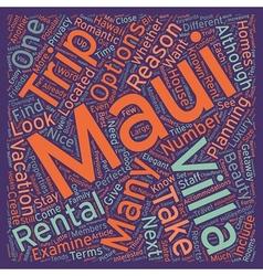 Why You Should Stay At A Maui Villa text vector image vector image