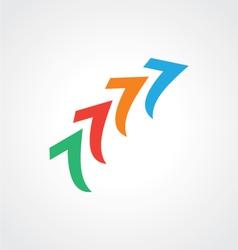 arrow abstract colourfull logo vector image vector image