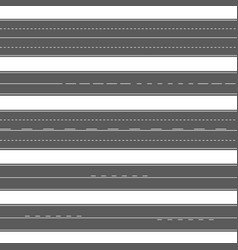Horizontal asphalt seamless roads road marking vector