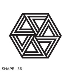 simple geometric shape vector image vector image