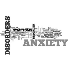 what is anxiety and how to treat it text word vector image vector image