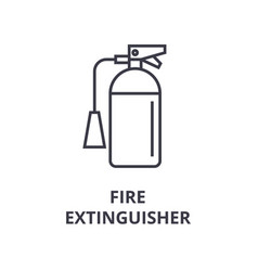fire extinguisher line icon outline sign linear vector image vector image