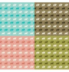 Seamless reindeer pattern vector image vector image
