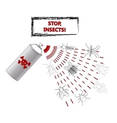 Spray against insects insecticides anti vector image vector image