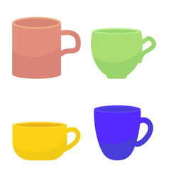 tee and coffee mug vector image