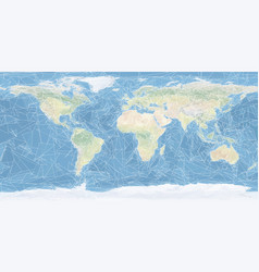 world map artistic low poly triangulated vector image vector image