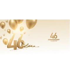 46th anniversary celebration background vector