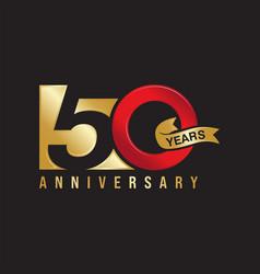 50 years anniversary celebration vector