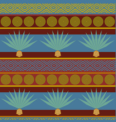Abstract tribal ethnic background bright seamless vector