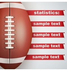 Background of Statistics American Football vector image