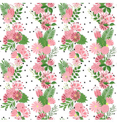 Beautiful seamless pattern in small abstract vector