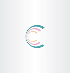 Business icon letter c logo design vector
