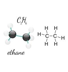 C2H6 ethane molecule vector image