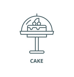 cake line icon linear concept outline vector image