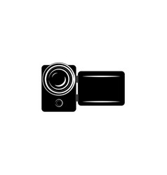 camcorder icon videocamera icon black on white vector image